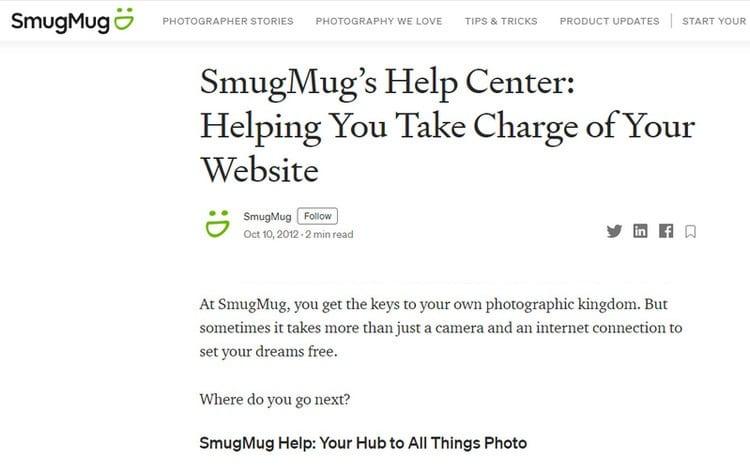 smugmug customer support
