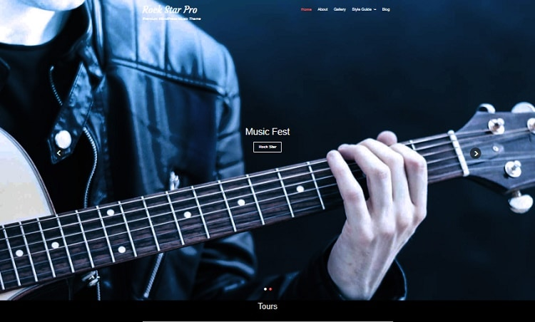 musician website reviewed