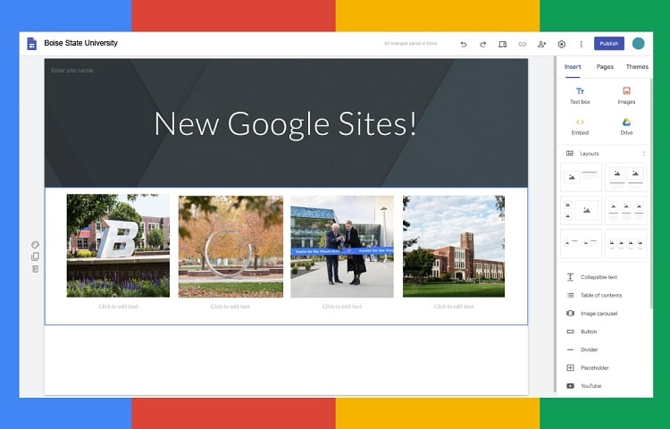 google sites web builder